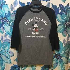Authentic Disney Parks Mickey Mouse Baseball Tee